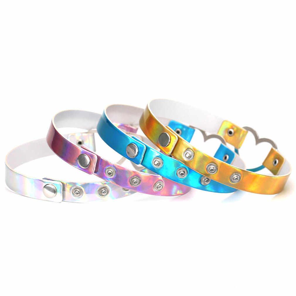 3a2cc3dc955 ... Harajuku голографическая подвеска ожерелья в форме сердца лазерной  цепочка на шею голограмма Модные украшения из искусственной