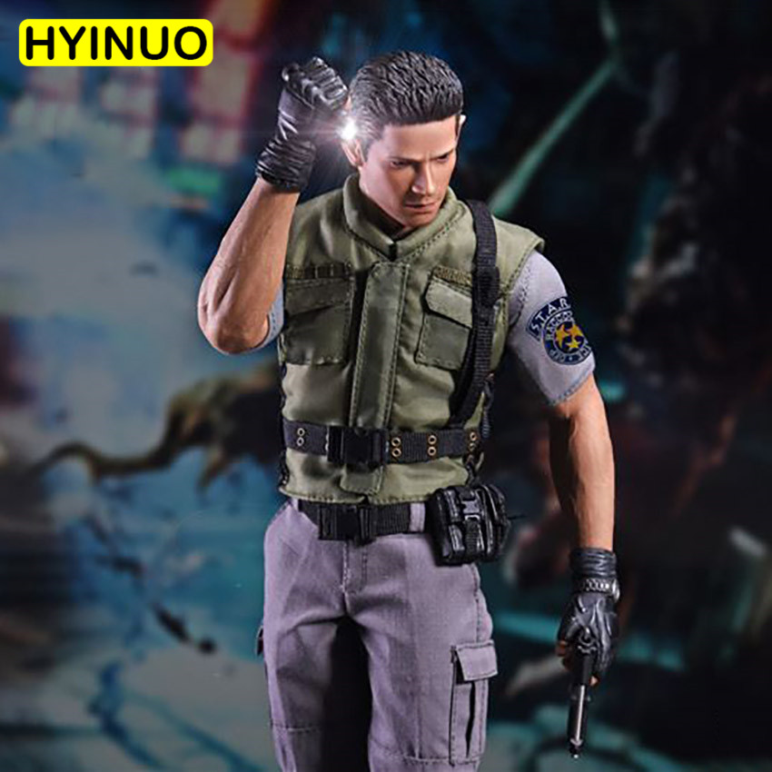 1//6 Collectable Figure Chris Redfield Action Full Set doll Clothing