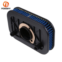 POSSBAY Motorcycle Air Filter Cleaner Moto Air Intake Dirt Scooter Filter for Harley Sportster 883 1200 2010 2011 2012 2013 2014