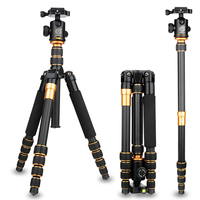 Камера аксессуары Стенд штатив 62 дюймов/158 см Q666C углеродного волокна Камера штатива монопода 15 кг/33lb нагрузки для однообъективной зеркальн