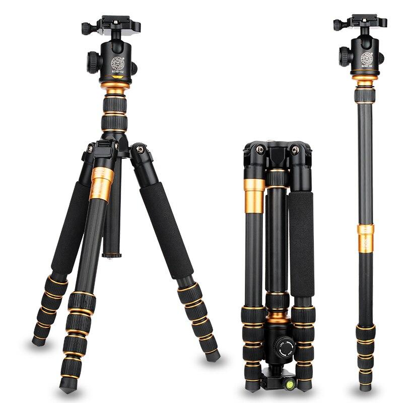 Камера аксессуары Стенд statief 62 дюймов/158 см Q666C штатив монопод для фотокамер из карбонового волокна 15 кг/33lb нагрузки триподес para camaras