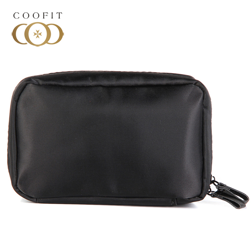 Coofit Simple Womens Cosmetic Bag Mini Casual Portable Waterproof Nylon Toiletry Bag Makeup Pouch For Travel maleta de maquiagem unicorn 3d printing fashion makeup bag maleta de maquiagem cosmetic bag necessaire bags organizer party neceser maquillaje