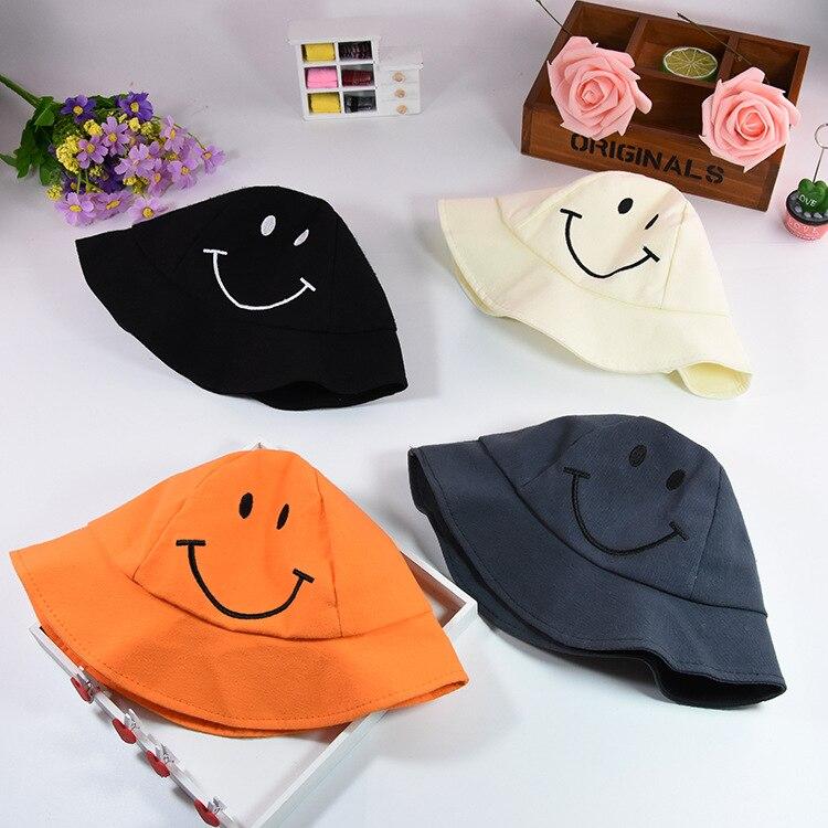 Xisayababy новый на лето и весну для маленьких девочек Обувь для мальчиков Шапки милой улыбкой узор солнце детская шапка мода рыбак шляпа для ...