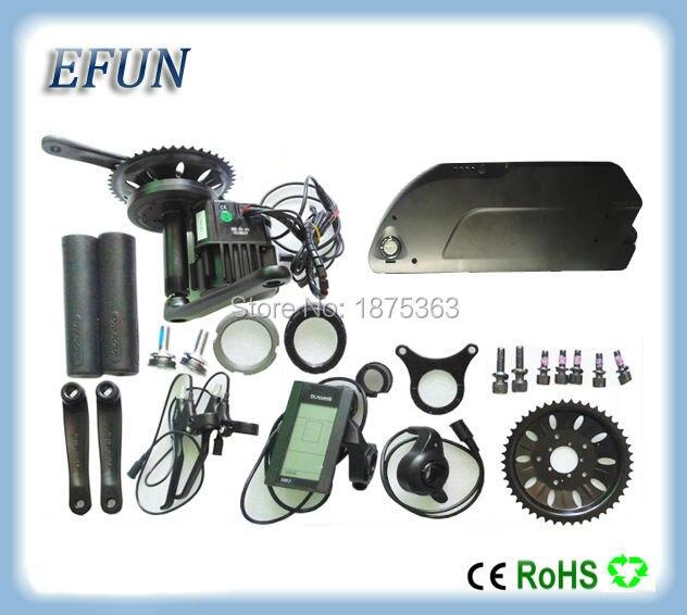 8Fun Bafang BBSHD BBS03 Mid Drive Motor Kits With 48V 13Ah Tiger Shark Down Tube Battery