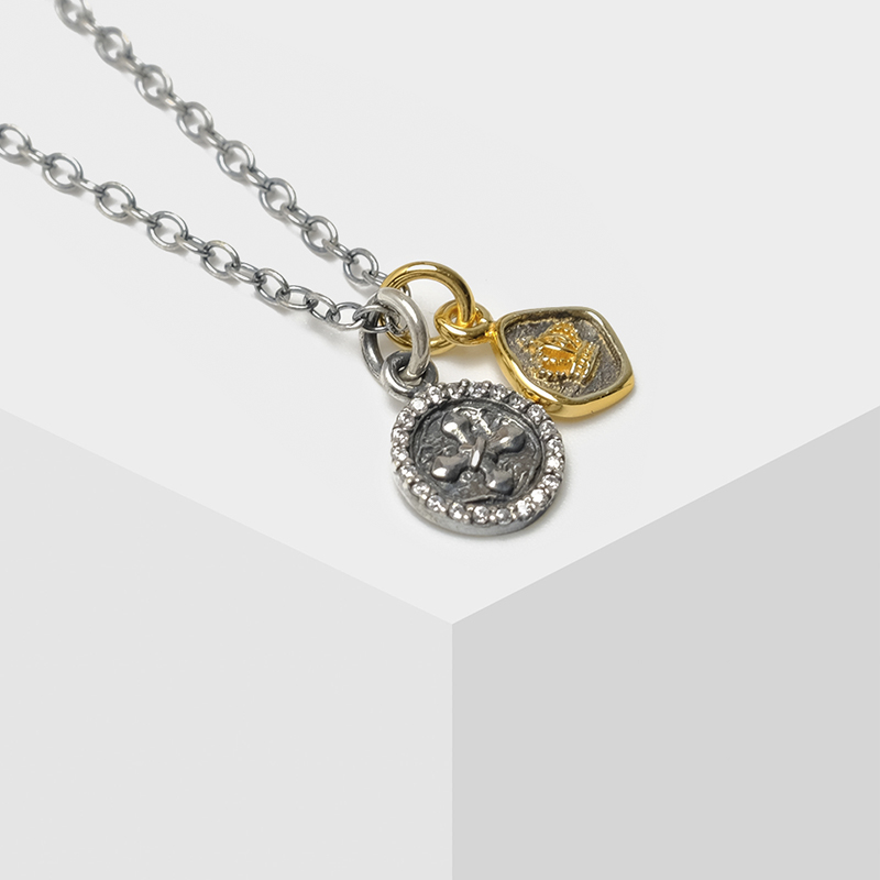 Local focal silver 925 cross crown pendant chains necklacesLocal focal silver 925 cross crown pendant chains necklaces