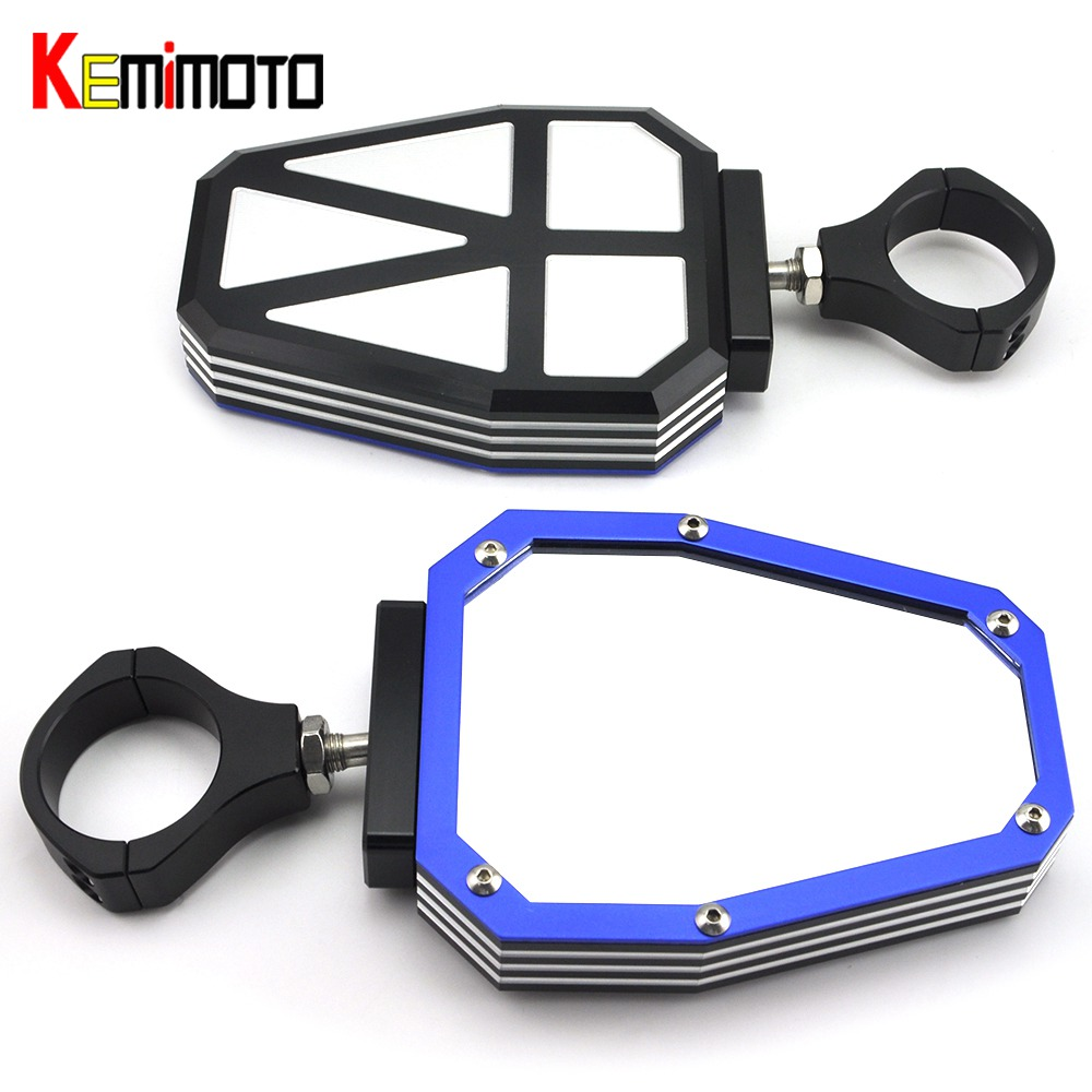 KEMiMOTO 1.75 Blue Convex UTV SXS Roll Cage Side Mirrors for Polairs RZR 500 800 900 1000 XP for Yamaha Rhino 450KEMiMOTO 1.75 Blue Convex UTV SXS Roll Cage Side Mirrors for Polairs RZR 500 800 900 1000 XP for Yamaha Rhino 450