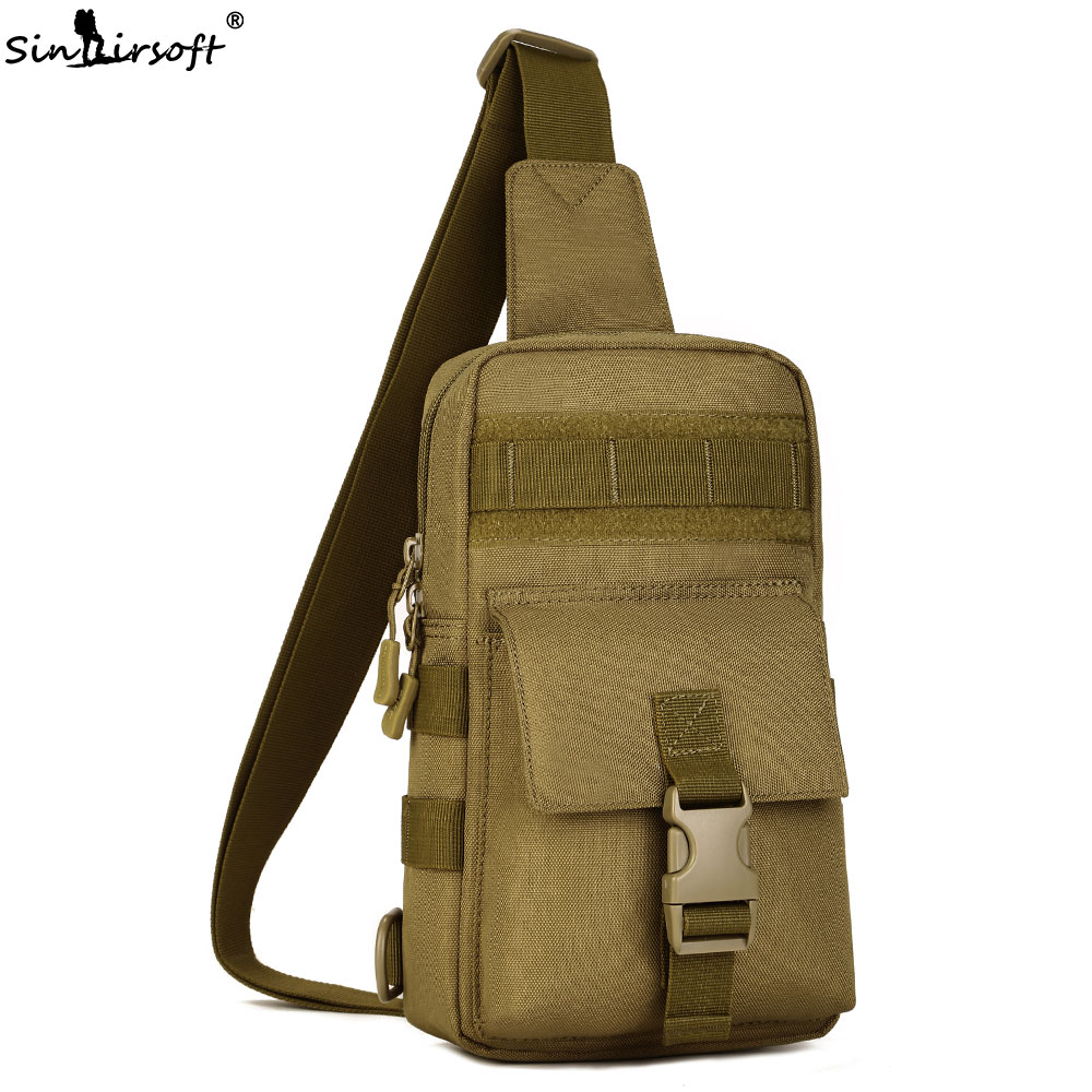 SINAIRSOFT Outdoor Tactical Shoulder sheath Waterproof Army Military hunting camping Multi-purpose Molle Sport Bag LY2060
