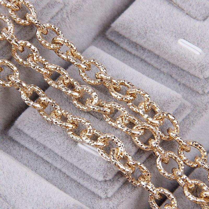 1 Meter Aluminium Rose Gold Oval Form Ketten Passten Armband-entdeckungen Open Gliederkette Für Diy Schmuck Machen Tasche Teile Aromatischer Geschmack