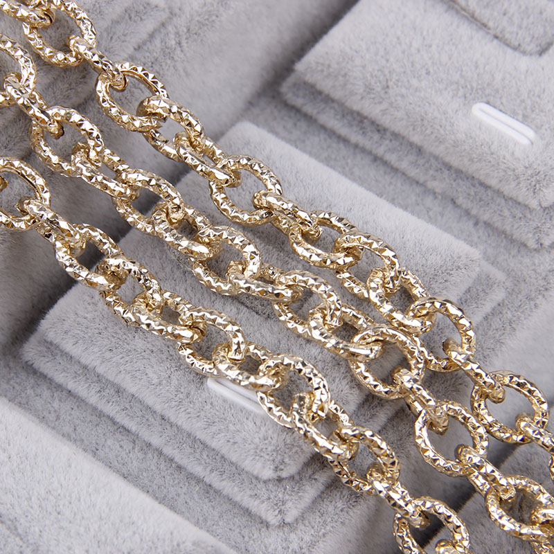 1Meters Aluminum Rose Gold Oval Shape Chains Bulk Fit Bracelets Findings Open Link Chain For DIY Jewelry Making Bag Parts
