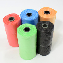 Portable Degradable Pet Waste Poop Bags 200pcs(10 roll x 20pcs) Dogs Cat Clean Up Refill Garbage bag for cleaning