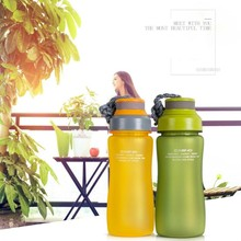 600ML Leak-proof Sports Plastic Water Bottle Portable Rope with Tea In