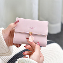 2019 New Brand Leather Women Wallet High Quality Design Women wallet Mini bag Sheet metal Metal zipper6 Colors Clutch Wallet все цены