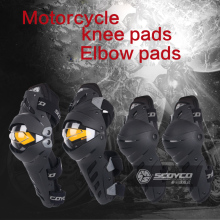 Scoyco Motorbiker Protective Kneepad Motorcycle Knee Guards Outdoor Sports Scooter Moto Racing Safety Protector Gears Race Brace