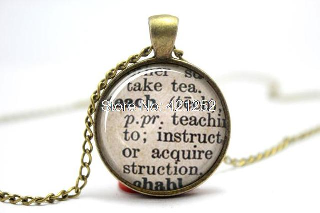 10pcs teach dictionary definition teacher necklace in pendant 10pcs teach dictionary definition teacher necklace aloadofball Image collections
