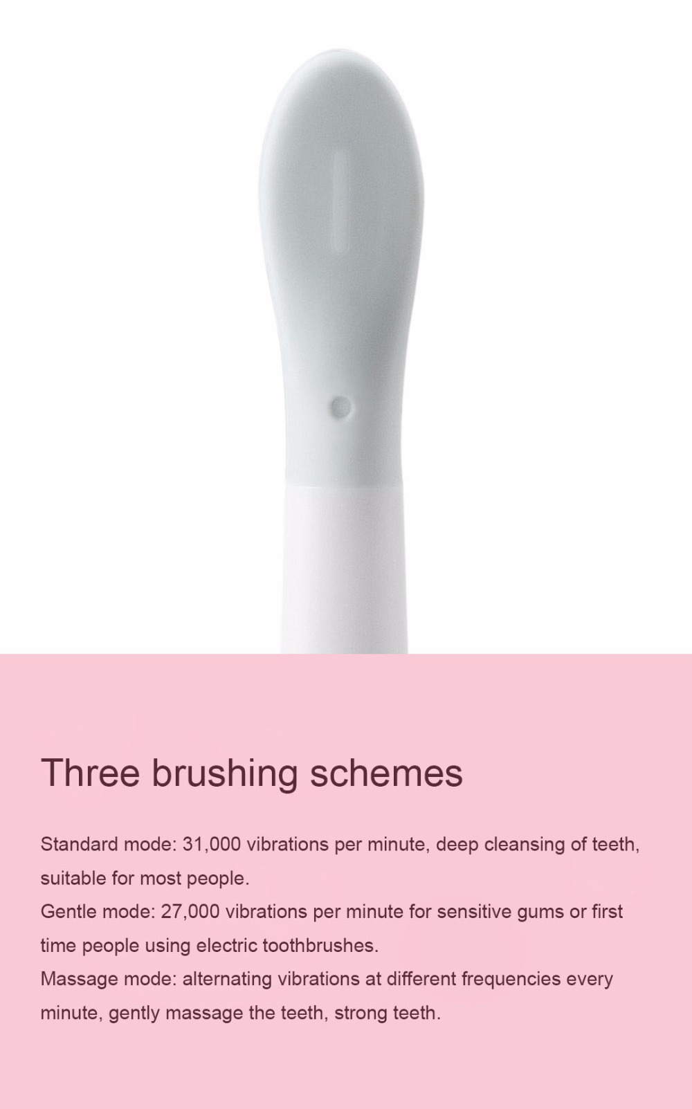 Xiaomi Mijia SO WHITE Sonic Electric Toothbrush Portable IPX7 Waterproof Deep Clean Inductive Rechargeable Wireless Tooth Brush (11)
