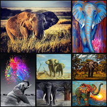 Full Drill 5D DIY Diamond Painting elephant handmade Embroidery arts Cross Stitch Mosaic Decor gift