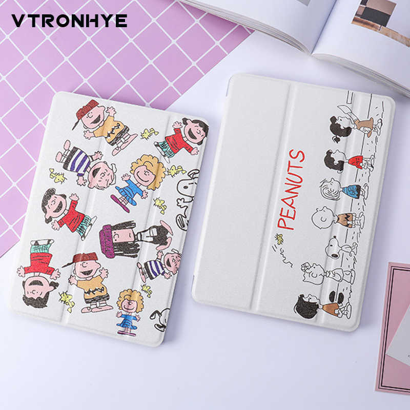 Cartoon PU leather Case voor fundas iPad air 3/Mini 5 2019 Capa para Ultradunne Soft TPU Back Cover voor iPad 2/3/4 Air 1/2 coque