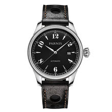 New 42mm Parnis Sapphire Black Dial Japan Automatic Movement Men Wrist Watch free shipping
