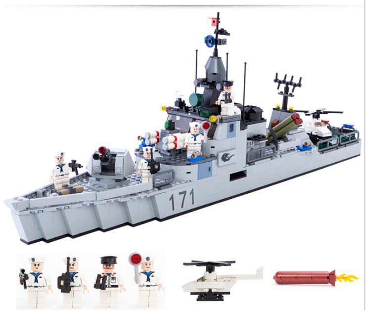 693 pièces guerre mondiale seconde guerre navire Tank avion avec chiffres blocs de construction armée guerre jouets constructeur Compatible avec LegoINGS
