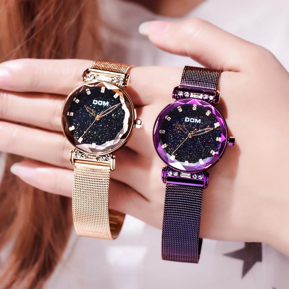 DOM Watch Women Watches Female Clock Ladies Wristwatch Fashion Luxury Famous Brand Crystal Dimond reloj mujer relogio feminino