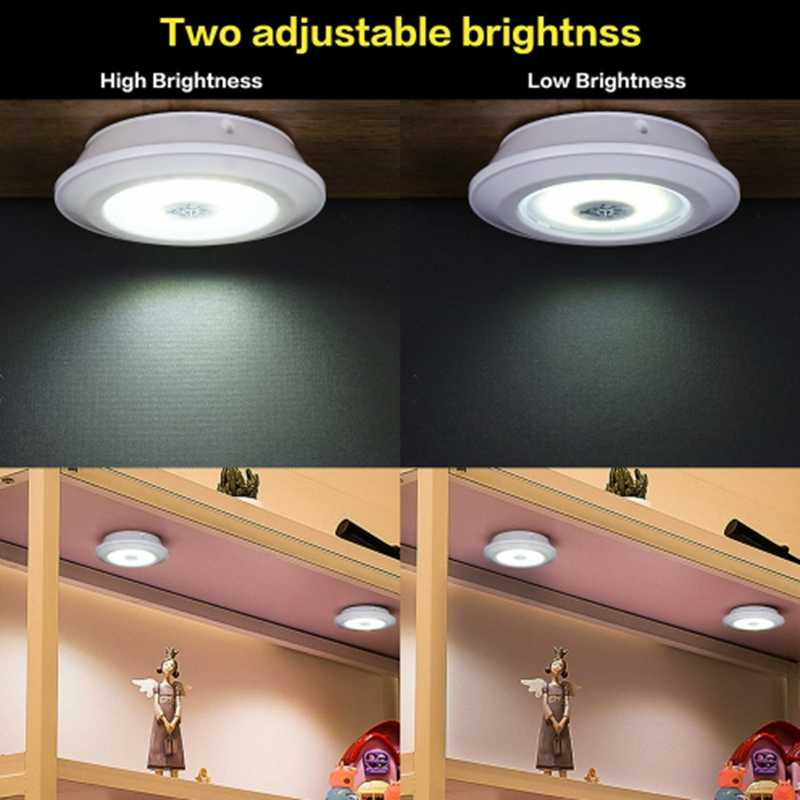 New Dimmable LED Under Cabinet Light with Remote Control Battery Operated LED Closets Lights for Wardrobe Bathroom lighting