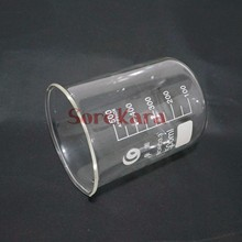 500ml Low Form Beaker Chemistry Laboratory Borosilicate Glass Transparent Beaker Thickened with spout