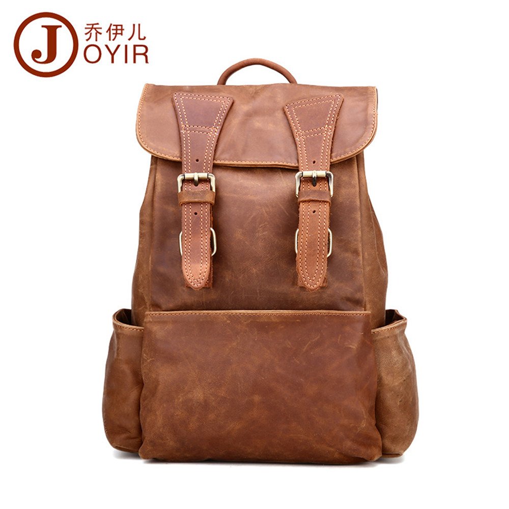 New woman backpacks first layer cowhide leather Large backpack vintage school bag travel bag for  girl fashion brand luxury bags new fashion faux leather backpack woman backpacks for women for the traveling lady tote bags pu leather champagne girl daily bag