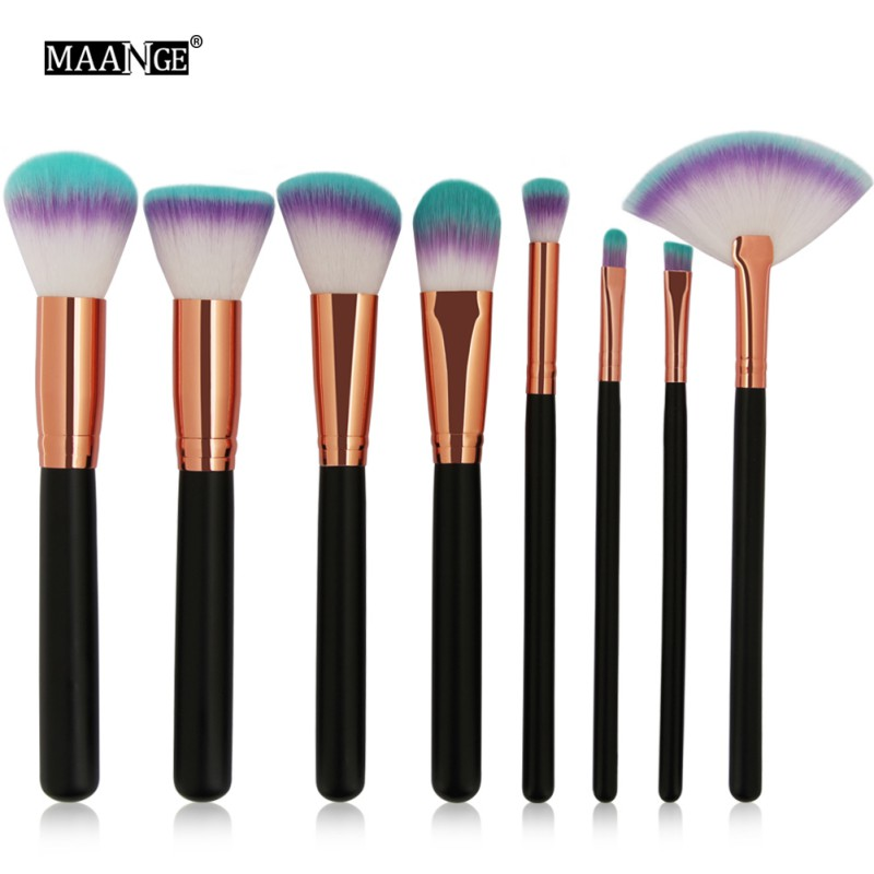 MAANGE Pro 6/8pcs Makeup Brushes Set Power   Contour Foundation Blush Eye Shadow Brow Cosmetics Make Up Tool Kits M3MAANGE Pro 6/8pcs Makeup Brushes Set Power   Contour Foundation Blush Eye Shadow Brow Cosmetics Make Up Tool Kits M3