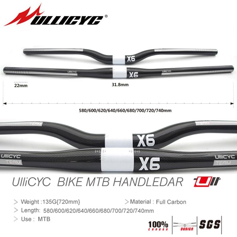 CARBON FIBER bike MTB 25.4 mm  handlebar 580 600 620 640 660 mm