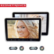 1/2 قطعة 10.1 بوصة سيارة راصد مسند الرأس DVD مشغل فيديو USB/SD/HDMI/IR/FM TFT LCD شاشة اللمس زر لعبة التحكم عن بعد ستيريو