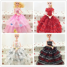 5Pcs Lot Princess Doll Clothes Wedding Dress Evening Dress Gown Clothing Fashion Doll Accessories For Doll