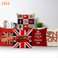 TOX Valentine Day Style Textiles London, England Cushion Covers Square 45x45Cm Sofa With Bed Printed Pillow Case