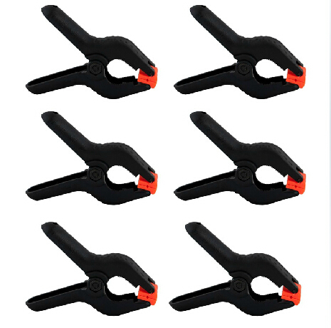 6 Pieces 4.5 Inch Universal Studio Backdrop Clamps Heavy Duty Background Muslin