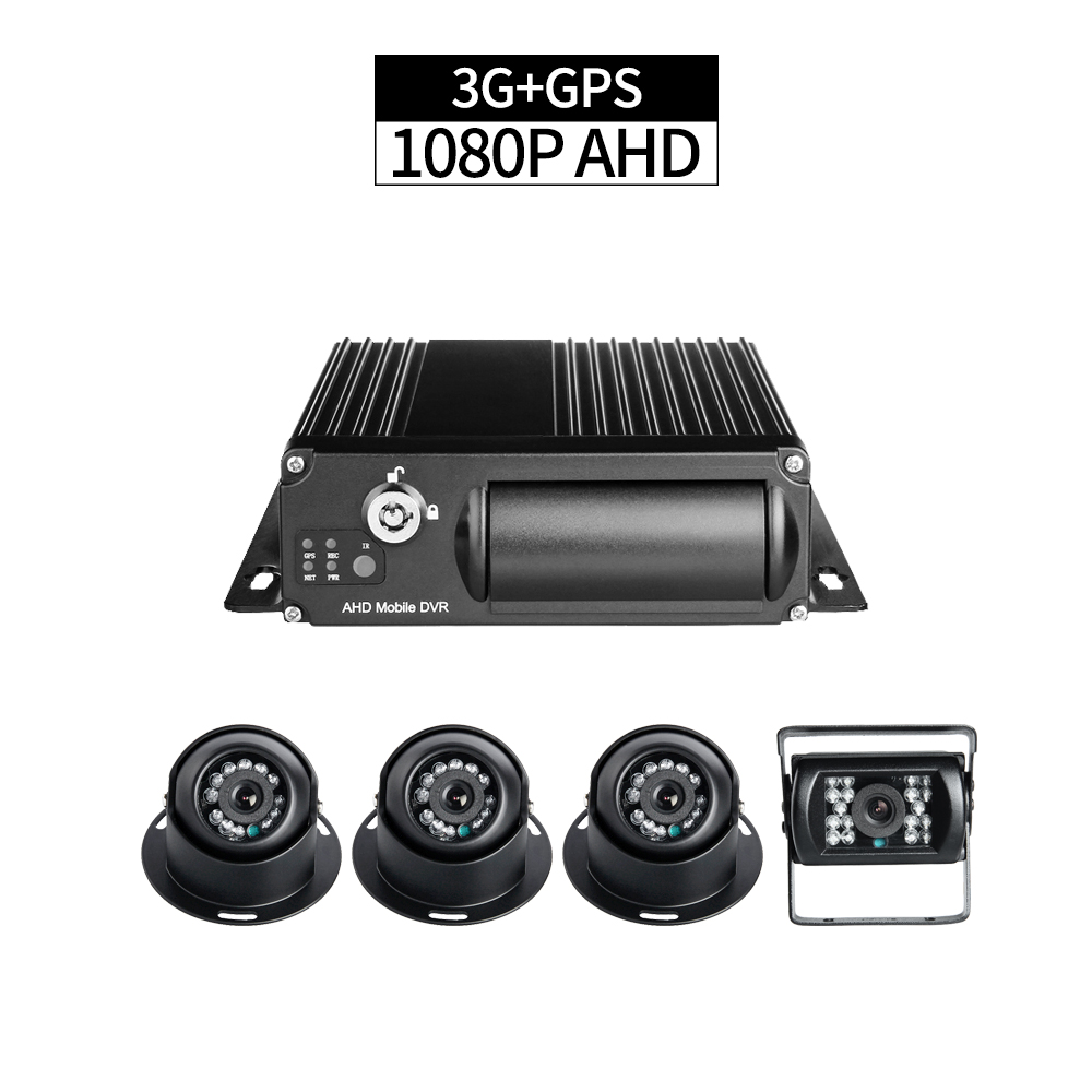 3G+GPS 4CH AHD 1080P Mobile DVR PC/Phone Remote Monitor GPS Track +4pcs 2.0MP Camera for Taxi Bus Vehicle Security Surveillance3G+GPS 4CH AHD 1080P Mobile DVR PC/Phone Remote Monitor GPS Track +4pcs 2.0MP Camera for Taxi Bus Vehicle Security Surveillance