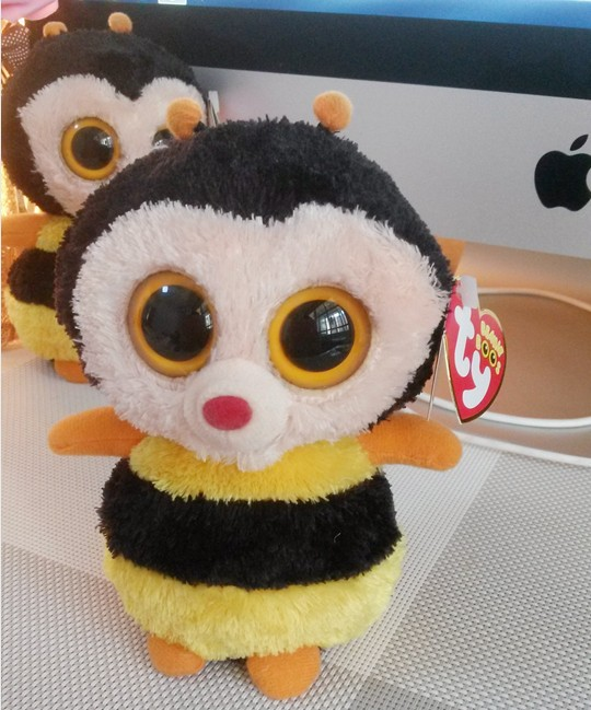 US $10 8 |New Original TY Beanie Boos Big Eyed Stuffed Animals Sting the  Bumble Bee Plush Toys For Children Gifts Kids Toys 15CM-in Stuffed & Plush