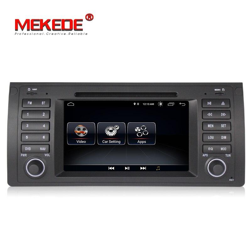 Lecteur DVD de navigation GPS de voiture MEKEDE Quad Core Android 8.1 pour BMW E39 E53 X5 M5 avec wifi BT autoradio livraison gratuite - 2