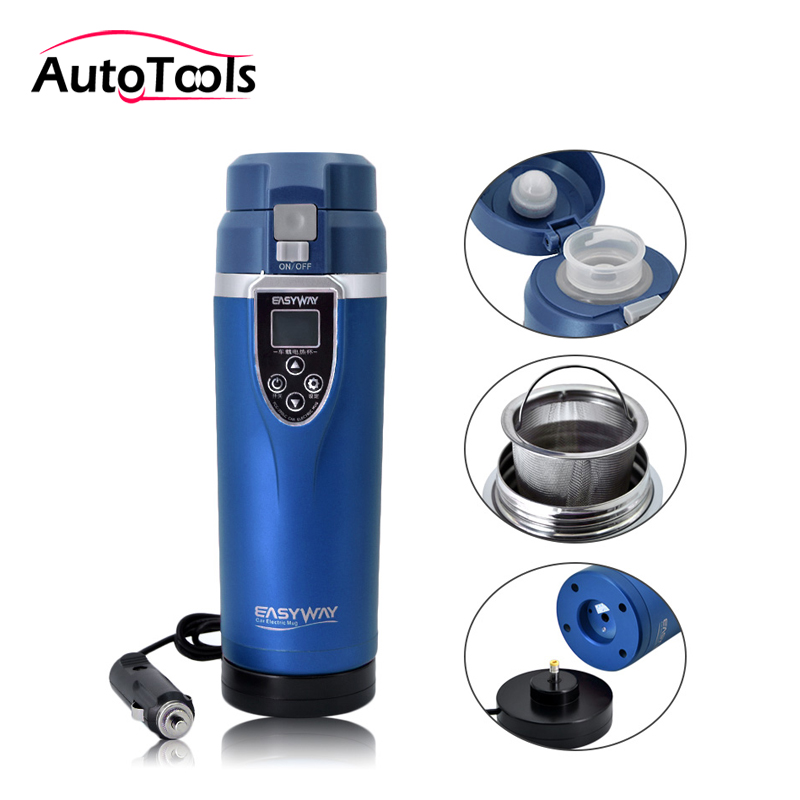 Portable car Heating Cup 350ML Adjustable Temperature cigratte charger Boiling Mug car Electric Kettle for coffee tea car cup auto car heating cup stainless steel cup travel kettle for coffee tea heated mug motor hot water portable car cup car kit