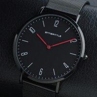 Fashion Slim Luxury Watch Men Business Ultra Thin Minimalist Stainless Steel Magnet Classic Quartz WristWatch Relogio Masculino