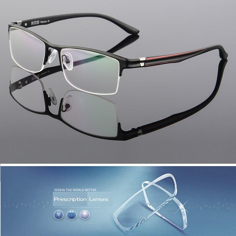 Lunettes titane Cubojue hommes lunettes de Prescription homme personnalisé Diopter moins 1.56/1.61/1.67 lentille d'index optique mâle transition