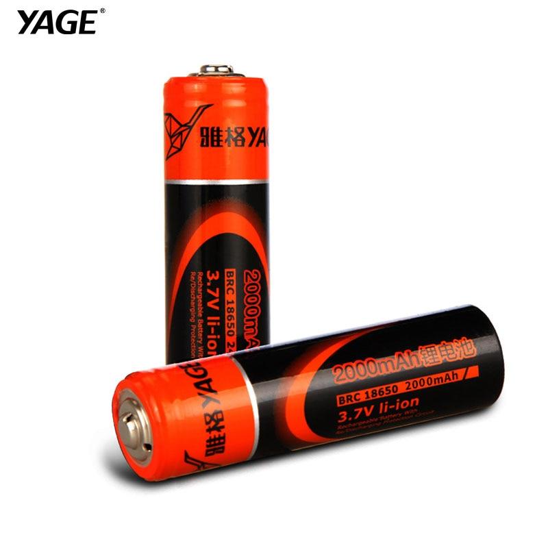 Yagé original 18650 batería recargable de litio 3.7 v 1500 mah/2400 mah li-ion batería de litio para led linterna juguetes