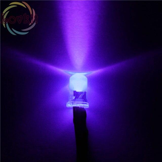 20 stücke 5 MM Round Top 12 V Vorverdrahtet Widerstand Lila/UV LED Leuchtdiode 12 V DC 20 cm Vorverdrahtet Dioden Led Lampe Licht DIY Einzelhandel