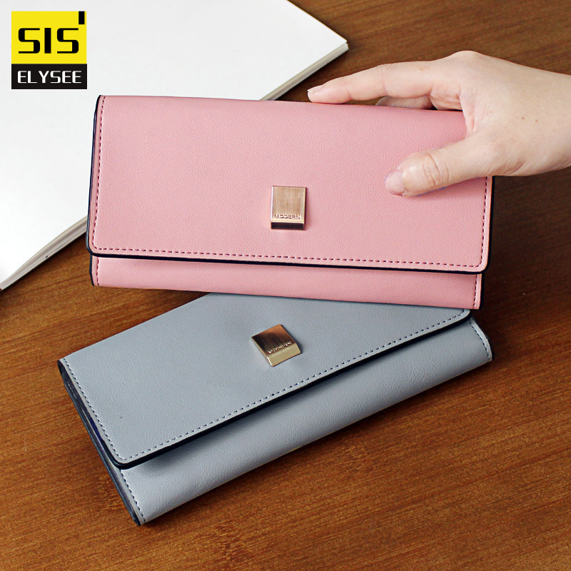 2017 New Brand Soft Leather Standard Wallet Women Hasp Long Coin Purse For iPhone7S Card Holder Money Day Clutch Bag Top Quality