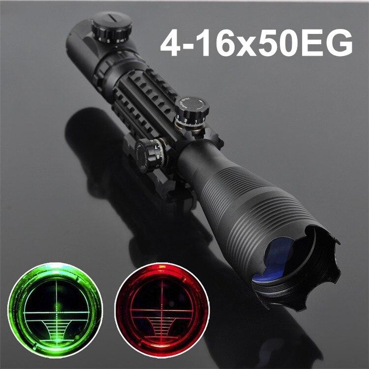 1pc Optics Gun-sight 4-16X50 EG LLL Scopes Air Rifle Gun Riflescope Outdoor Hunting Telescope Rifle  High Reflex Scope