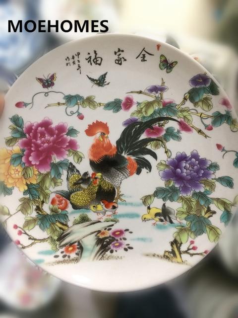 MOEHOMES Cinese pittura su ceramica Polli, uccelli, insetti ...