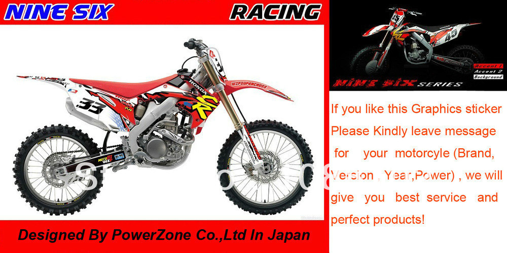 Team Graphics & Backgrounds Decals 3M Plastic Cover Stickers Motorcylce CRF XR CRM Series Dirtbike Racing Free Shpping
