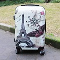 Vintage Tower Printing ABS PC 20 24 Inches 1 Piece Hardside Carry-on Cabin Case Upright Travel Luggage Suitcase Fochier XQ016