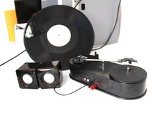 Audio Grabber vinyl phonograph player black film conversion recorder player convert to mp3 to TF Card