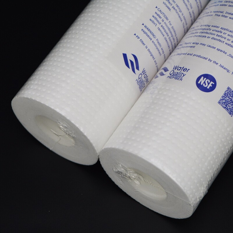 Image 2 - Хлопок PPF фильтрующий картридж для водоочистителя 2шт 10 дюймов PP Хлопок 0,5 микрон осадочный фильтрующий картридж-in Водяные фильтры from Бытовая техника