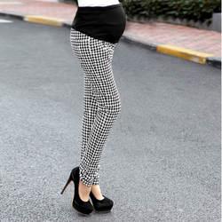 Осень Тонкий Мода для беременных Брюки ломаную клетку хлопок для беременных Для женщин живота Поддержка брюки Gestante Pantalones Embarazada