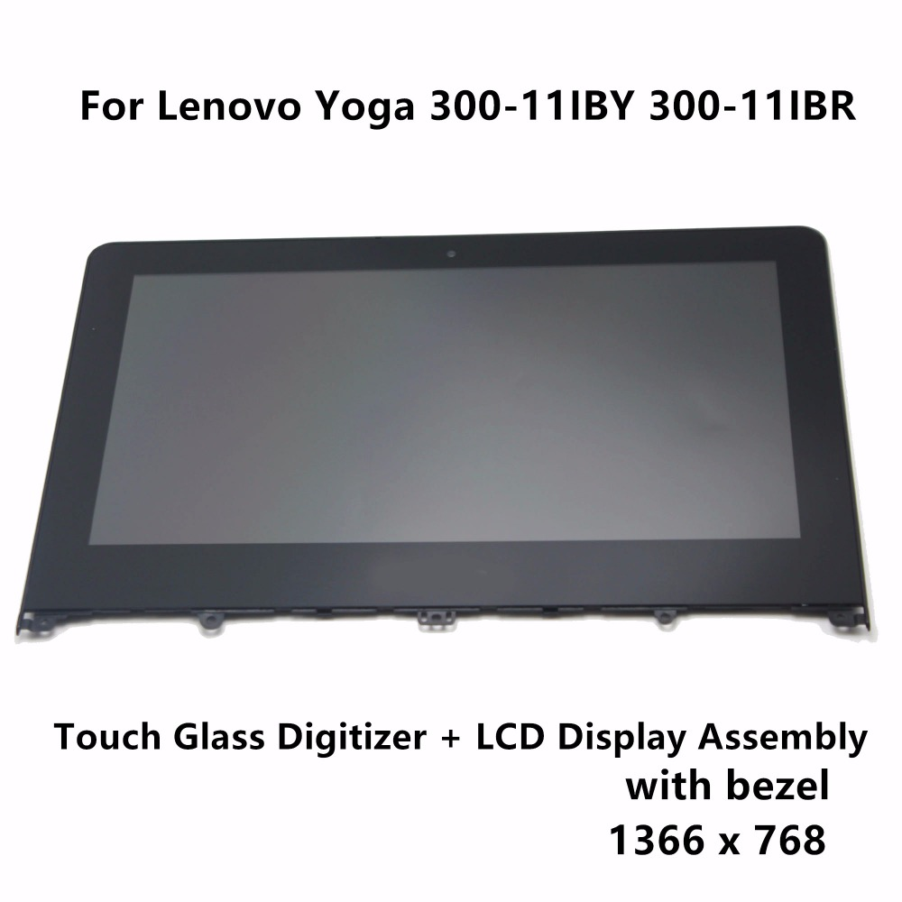 цена на 11.6 For Lenovo Yoga 300-11IBY 80M0 20594 300-11IBR 80M1 Laptop LCD Display Touch Panel Screen Glass Digitizer Assembly Bezel